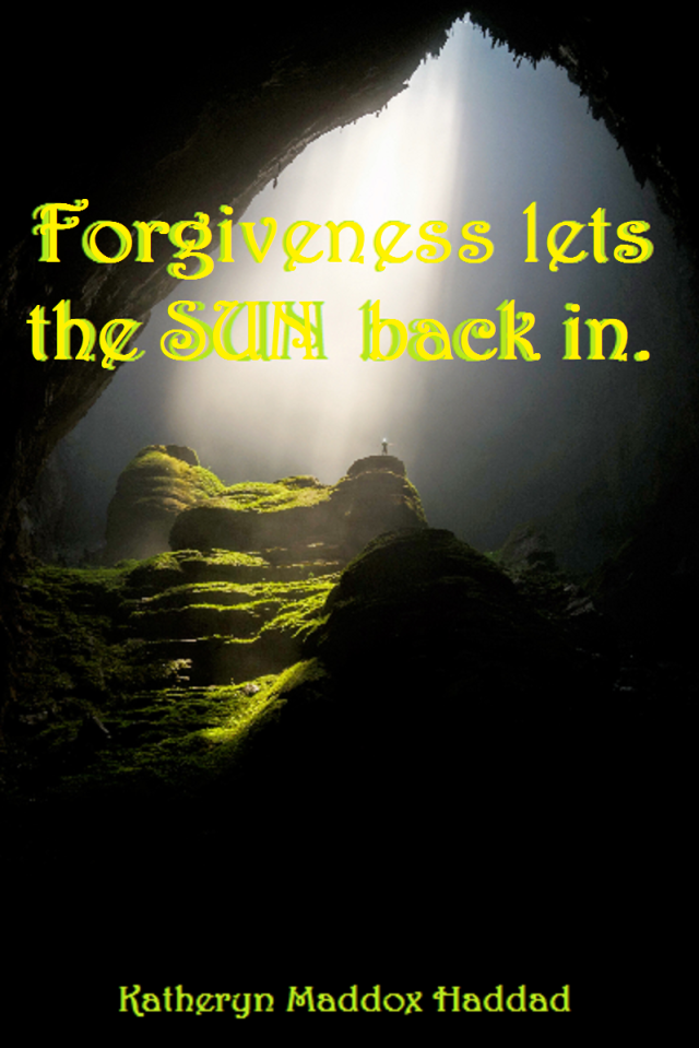 Forgiveness Lets Sun Back In